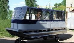 Алюминиевый понтонный катер-катамаран Турист-720 для рыбалки и отдыха