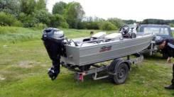 Продам моторную лодку Krafter 420 c мотором Evinrude e-tek 25 л. с.