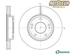 Диск тормозной пер. G-brake Hyundai iX35/Sonata (NF)/KIA Sportage (SL)