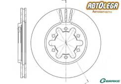 Диск тормозной G-brake Nissan Atlas/Condor F22 Caravan/HOMY E23 Urvan