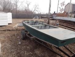 Продам плоскодонную деревянную лодку