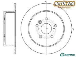 Диск тормозной. Toyota Venza, AGV10, AGV15, GGV10, GGV15 1ARFE, 2GRFE