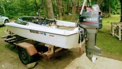 Лодка Yamaha с мотором Yamaha 30d и телегой