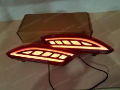 Катафоты (фонари) в задний бампер Honda Vezel (Везел) 2 режима
