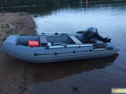 Лодка ПВХ Адмирал АМ-350 НДНД Полный комплект б/у как новая