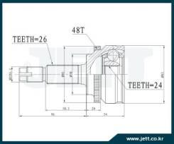 ШРУС внешний JETT V41-9460 с кольцом ABS