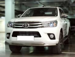 Защита переднего бампера Toyota Hilux 2015+ двойная d-60+43