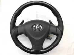 Анатомический руль Silk Blaze с косточкой под черное дерево для Toyota