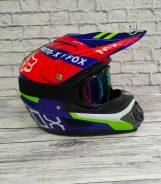 Мото шлем кросс/эндуро с очками Подростковый Отправка по РФ L