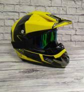 Мото шлем кросс/эндуро с очками Подростковый Отправка по РФ / S-M