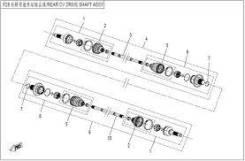 Вал привода задний левый 7020-280106-50000