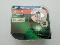 Комплект всепогодных ламп Osram Allseason H4 +30% 2950K (2 шт. )