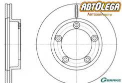 Диск тормозной пер. G-brake Mitsubishi Canter FB51#,568,637,668, FE51,53