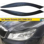 Реснички на фары для Skoda Octavia A5 2008-2013