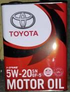 Оригинальное масло Toyota SN PLUS GF-5 5W20
