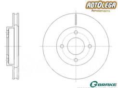 Диск тормозной пер. G-brake Nissan Note E11 Tiida Latio SC11 SZC11
