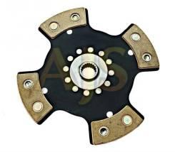 Диск сцепления керамический AJS ВАЗ 2121 4 лепестка, бездемпфер, металлокерамика