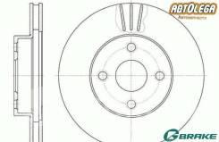 Диск тормозной пер. G-brake Toyota Corolla NZE12# 00-06, Carib AE95 94-