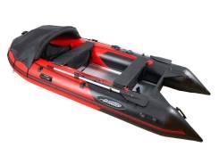Надувная лодка Gladiator C370 AL Красно-черный
