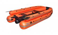 "Лодка ПВХ ""Абакан 430 Jet"" (Оранжево-черный)"