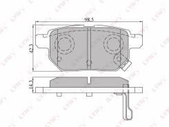 Колодки тормозные дисковые | зад | LYNXauto BD-7543