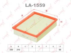 Фильтр воздушный Артикул: LA155, Произв. :«LYNXauto», в наличии на утро 30.05.20 есть
