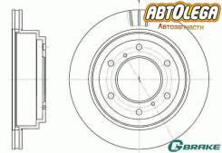Диск тормозной зад. G-brake MMC Pajero V60/V70(00-06), Pajero V80/V90