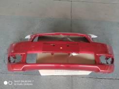 Бампер Mitsubishi Lancer X новый, красный.