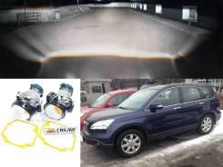 Набор замены линз в фарах Хонда ЦРВ-3 на билинзы Hella3r