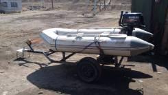 Лодка ПВХ с двигателем и телегой