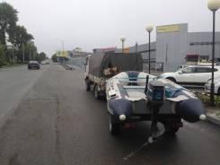 Продам 6 местную рез. лодку с мотором и телегой для перевозки