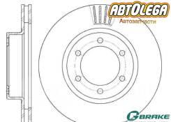 Диск тормозной пер. G-brake Toyota L. Cruiser Prado J120, Lexus GX470