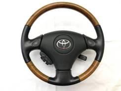 Оригинальный обод руля с косточкой дерево Toyota