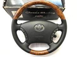"""Анатомический руль """"Clazzio"""" с косточкой под дерево для Toyota"""