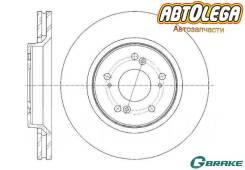 Диск тормозной пер. G-brake Acura; Honda RDX; Crosstour, CR-V III, IV(RE)