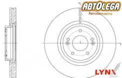 Диск тормозной перед. LYNXauto KIA Sorento 09- / Hyundai Santa FE 09-