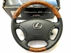 """Анатомический руль """"Clazzio"""" с косточкой под дерево для Lexus"""