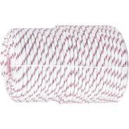 Фал плетёный полипр Сибртех 16-прядный с полипр. серд. 8мм, бухта 100м