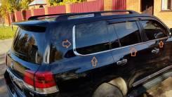Молдинги окантовки стекол отсечки для Land Cruiser 200 в стиле Lexus