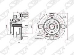 Ступичный узел FR Nissan Wingroad 12 / AD / Expert / Tiida / CUBE