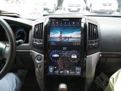 Магнитола в стиле Tesla для Land Cruiser 200, 2008-2015, простые компл