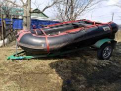 Продам резиновую лодку с прицепом