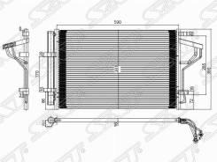 Радиатор кондиционера Hyundai I30 12-/Elantra 10-/KIA CEED 12-/Forte 1