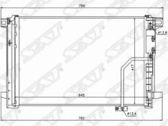 Радиатор кондиционера Mercedes E-Class W212 09-/Mercedes C-Class W204