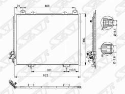 Радиатор кондиционера Mercedes E-Class W210 E200/E230/E240/E280/E320