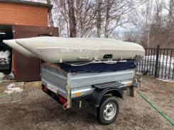 Лодка ПВХ Quicksilver 340+Yamaha15+Оборудованный прицеп для перевозки