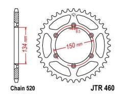 Звезда задняя (ведомая) JTR460.47 KLX 250 KDX 250 RMZ 250