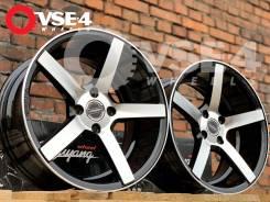 NEW! Вогнутые! # Vossen CV3 R16 7,5J 4x100 Black Polish [VSE-4]