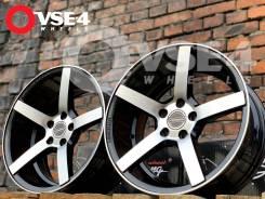 NEW! Вогнутые! # Vossen CV3 R16 7,5J 5x100 Black Polish [VSE-4]