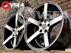 NEW! Вогнутые! # Vossen CV3 R16 7,5J 5x114,3 Black Polish [VSE-4]